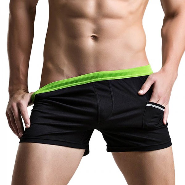 Sexy Men Swimwear Swimsuits  New Low Waist Swimming Trunks Pocket Beach Surf Board Shorts Mens Swim Suits Size XXL Extra Image 4