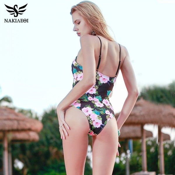 Sexy One Piece Swimsuits For Female Women Bodysuit Bathing Suits Retro Monokini Vintage Bandage Beach Wear Extra Image 4