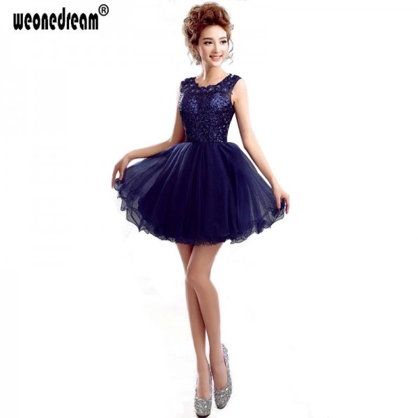 Short Blue Black Prom Dress A Line Backless Dress Party Plus Size ...