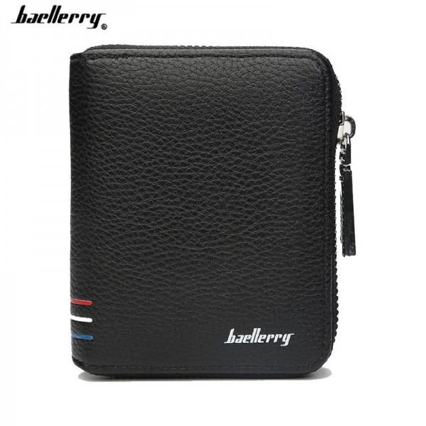 Short Handy Men Wallet Purse Male Clutch Bag For Coin Money Leather Wallet Mini Card Holder With Zipper Extra Image 2