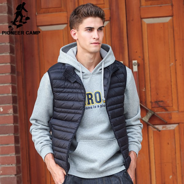 Sleeveless down Jacket Men Brand male autumn Spring Casual Ultralight Down Vest Slim Mens Vest Waistcoat Half Jacket Extra Image 1
