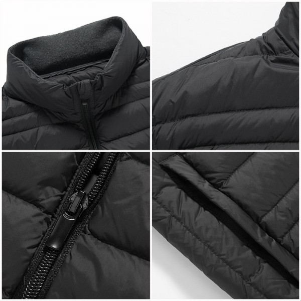 Sleeveless down Jacket Men Brand male autumn Spring Casual Ultralight Down Vest Slim Mens Vest Waistcoat Half Jacket Extra Image 5