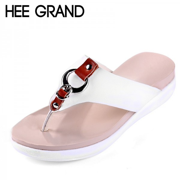 Slippers Platform Summer Flats Solid Flip Flops Beach Shoes Woman Creepers Slip On Women Shoes Size 35 40 Extra Image 1