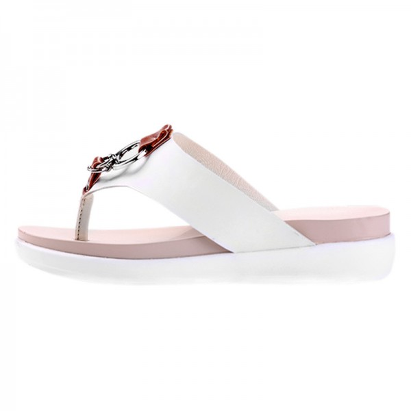 Slippers Platform Summer Flats Solid Flip Flops Beach Shoes Woman Creepers Slip On Women Shoes Size 35 40 Extra Image 2