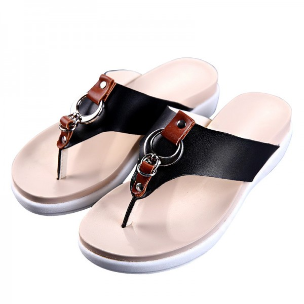 Slippers Platform Summer Flats Solid Flip Flops Beach Shoes Woman Creepers Slip On Women Shoes Size 35 40 Extra Image 4