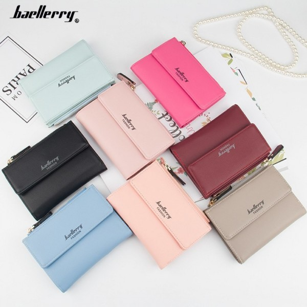 Small Wallets Tassel Pendant Short Money Wallets PU Leather Lady Zipper Coin Pocket Purses Female Card Bag Extra Image 4