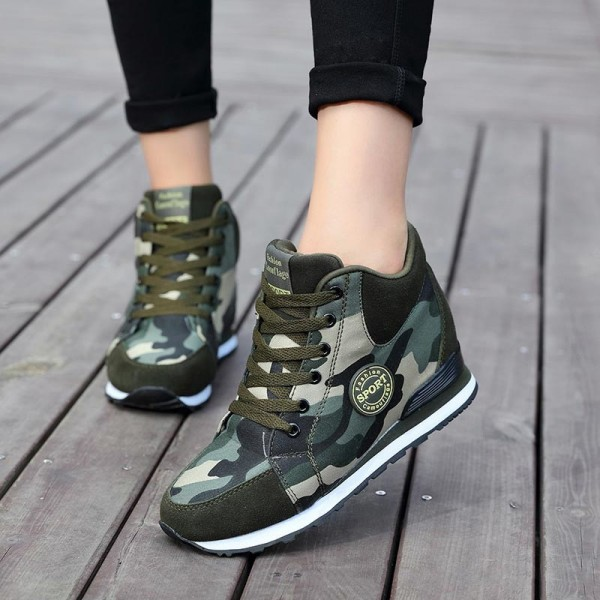 Sneakers women canvas shoes camouflage high to help increase women shoes winter casual sneaker women sport shoes Extra Image 3