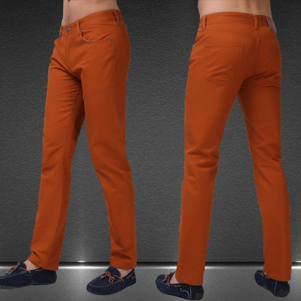 Solid Candy Color Jeans Summer Autumn Fashion Casual Calca Latest For Men Thumbnail