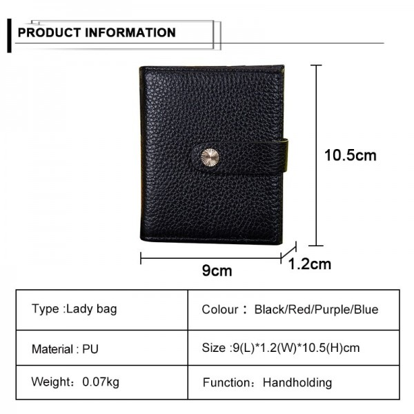 Solid Color Genuine Leather Bifold Wallet Purse Short Wallet for Men Hasp Males Wallet Card Holder Purse Extra Image 6