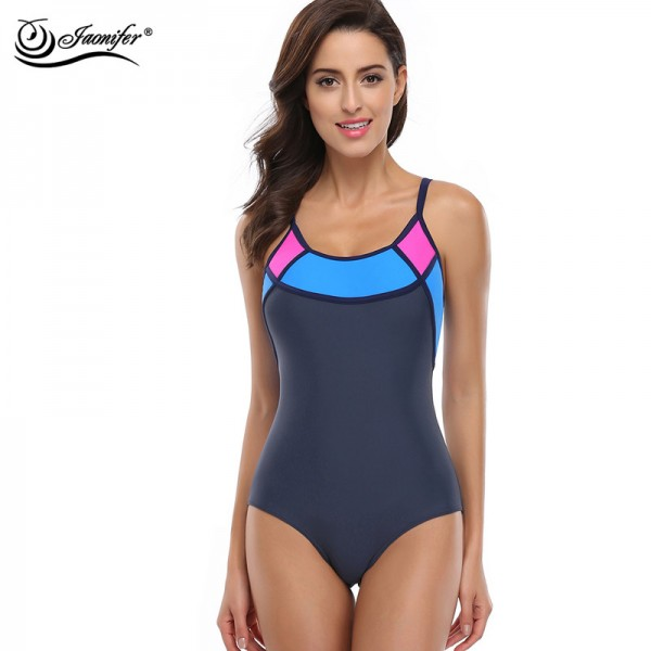 Sports One Piece Swimsuit Swimwear Women Sexy Backless Bodysuits Swimming Bathing Suits Beachwear For Women Extra Image 1