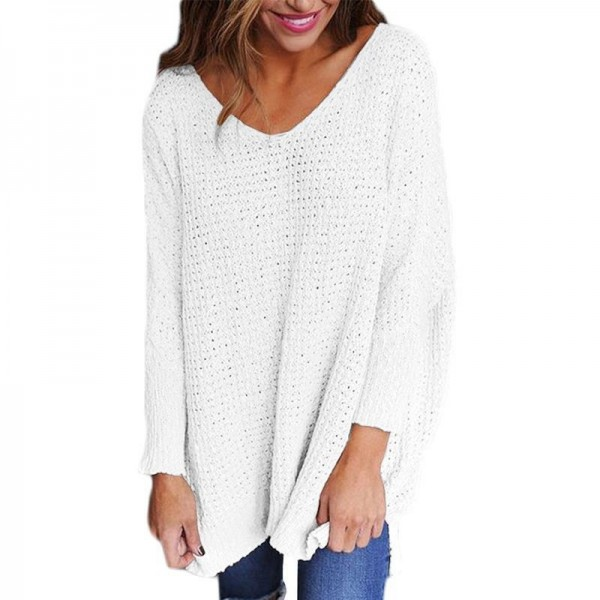 Spring Autumn Fashion Women Sweater Girl Knitted Pullover Tops Female Sexy V Neck Loose Ladies Sweaters Extra Image 6