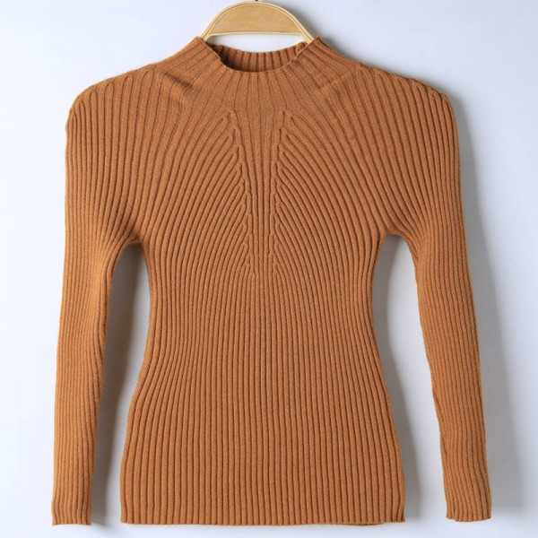 Spring Autumn Winter Fashion Sweater High Elastic Slim Elegant Knitted Pullover For Women Extra Images 4