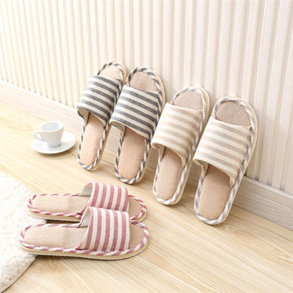 Spring Home Slippers Women Slides House Flip Flops Indoor Flats Couple Shoes Summer Anti Skid Soft Cotton Sandals Extra Image 2