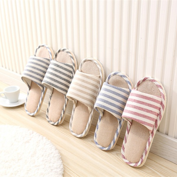 Spring Home Slippers Women Slides House Flip Flops Indoor Flats Couple Shoes Summer Anti Skid Soft Cotton Sandals Extra Image 3