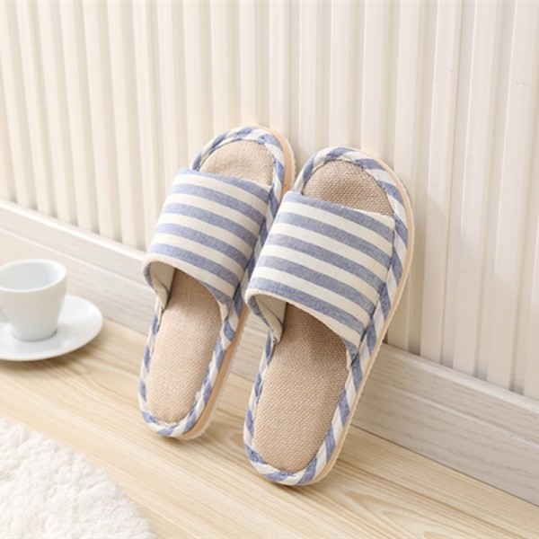 Spring Home Slippers Women Slides House Flip Flops Indoor Flats Couple Shoes Summer Anti Skid Soft Cotton Sandals Extra Image 5