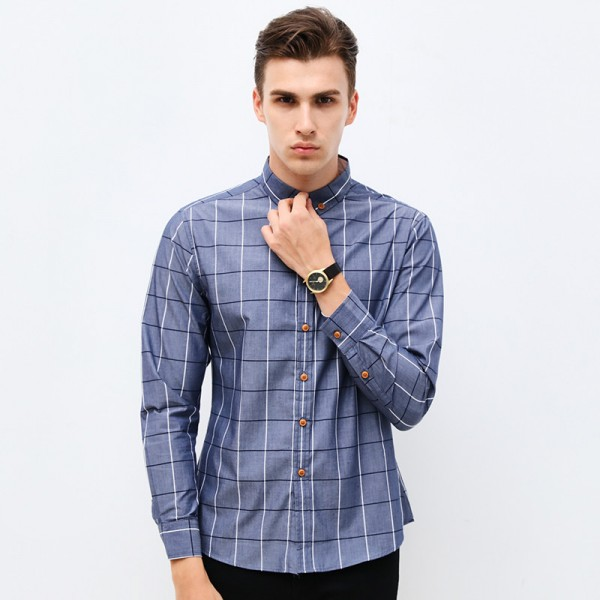 Buy Spring New Fashion Brand Clothing Mens Shirt Classic Plaid Shirt Slim Fit High Quality