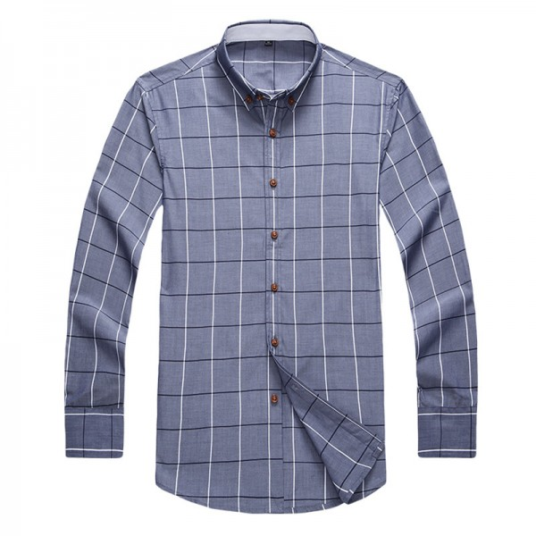 Spring New Fashion Brand Clothing Mens Shirt Classic Plaid Shirt Slim Fit High Quality Casual Shirt Men Clothes M 5XL Extra Image 5