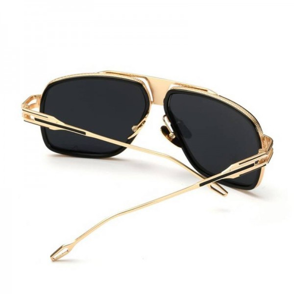 Square Aviator Sunglasses For Ladies Oversized Goggles Retro Vintage Steampunk Pilot Metal Frame Shades Extra Image 5