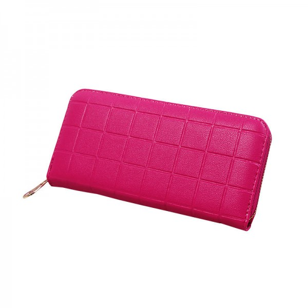 Stereoscopic Square Design Wallets Embossed Women Wallets Clutches With Zipper For Women Thumbnail