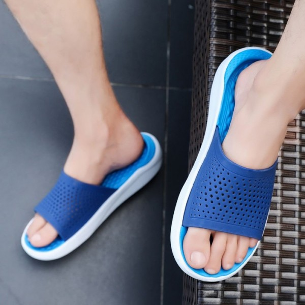 Stylish Men Slippers Men Slides Fashion Summer Casual Beach Flip Flops Shoes Non Slip Indoor House Home Slippers Extra Image 4