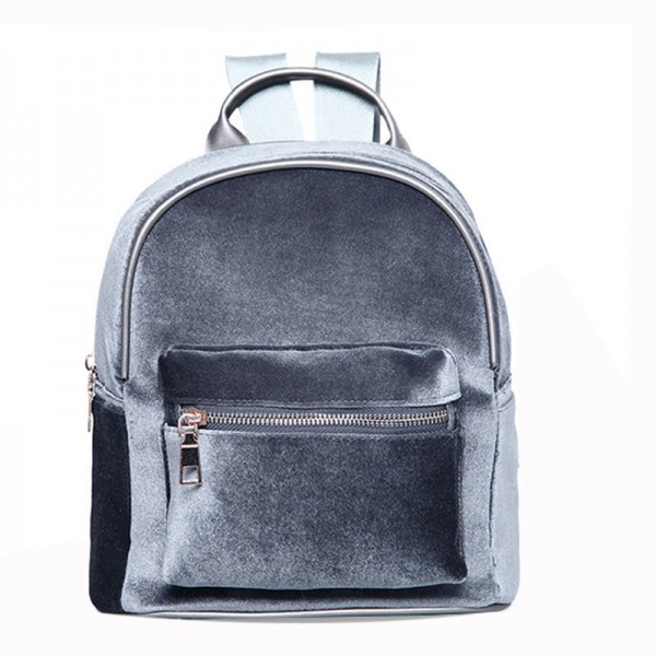 Stylish Women Backpack Travel Rucksack Girls Small Backpack For Female Cool Faux Fur Solid Color School Shoulder Bag