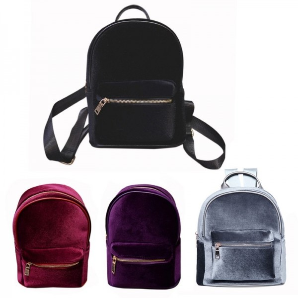 Stylish Women Backpack Travel Rucksack Girls Small Backpack For Female Cool Faux Fur Solid Color School Shoulder Bag Extra Image 6