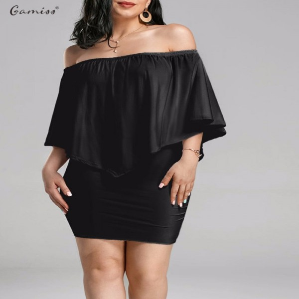 Summer Autumn Off Shoulder Bodycon Dress For Women Poncho Style Popover Cloak Sleeve Party Formal Dress Extra Image 1