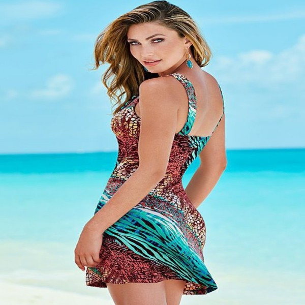 Summer Beach Tunic For Women Bathing Suit Beach Outfits Low Cut Slip Sarong For Females Extra Image 1