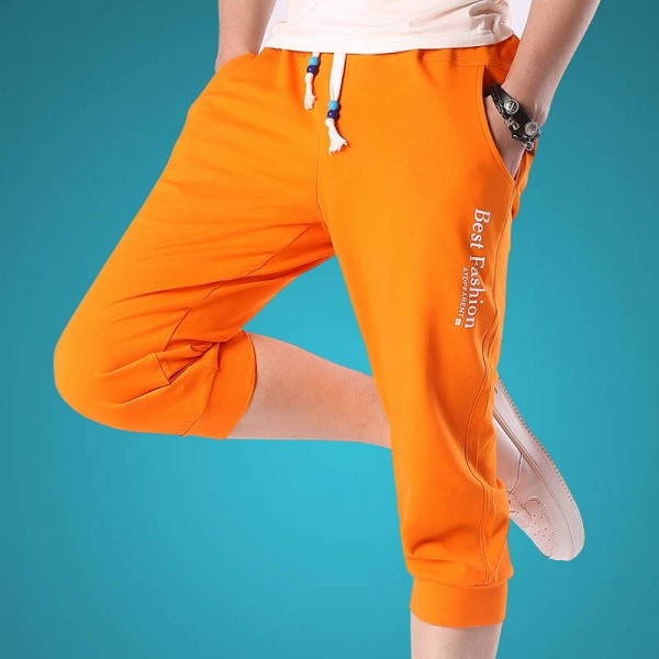 Summer Fashion Casual Loose Cropped Shorts Sweatpants Joggers Latest For Men Thumbnail