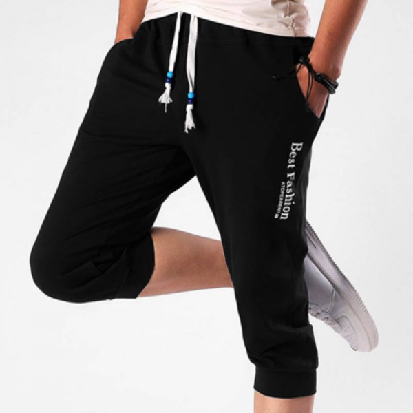 Summer Fashion Casual Loose Cropped Shorts Sweatpants ...