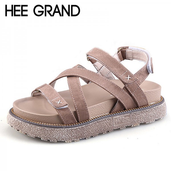 Summer Gladiator Sandals Comfort Flats Casual Creepers Platform Canvas Shoes Woman Plus Size 35 43 Sandals Extra Image 1