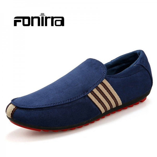 Summer Korean Fashion Men Casual Loafers Breathable Rounded Top For Men
