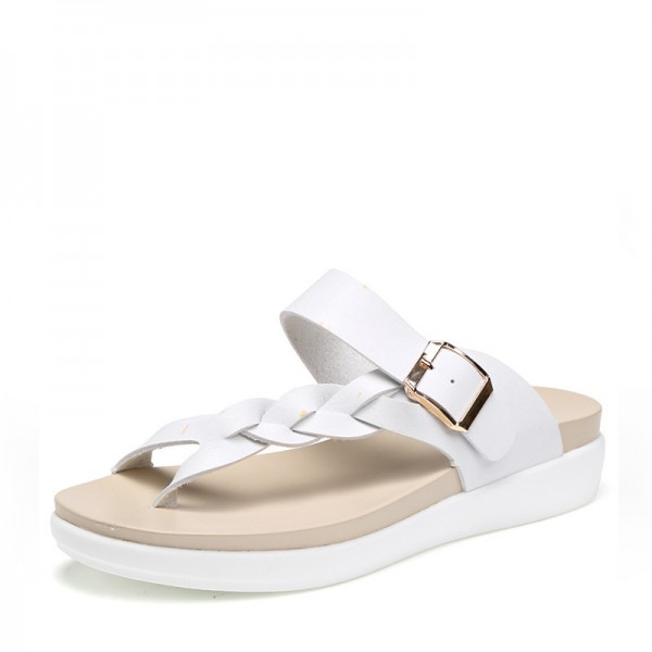 Summer Sandals Slippers For Women Genuine Leather Ladies Shoes Fee Shipping Flats Slippers For Women Extra Image 2