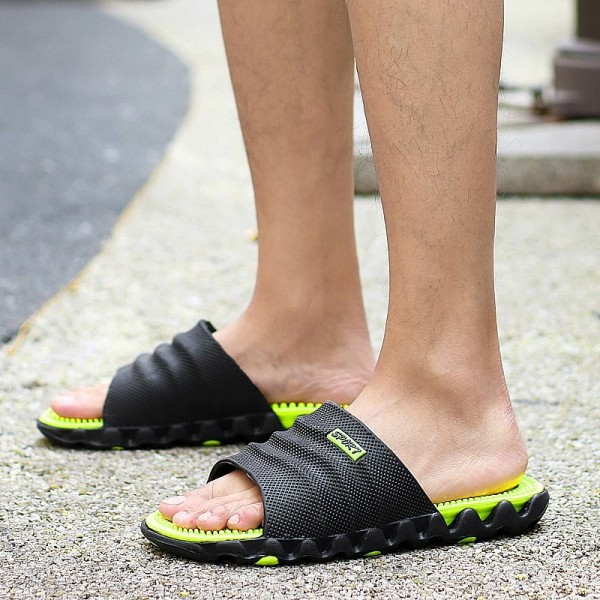 Summer Slippers Men Casual Shoes Sandals Leisure Soft Slides Eva Massage Beach Slippers Water Sandals Flip Flops Extra Image 6