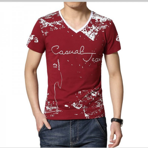 Summer Style T Shirt Men Casual Printed Short Sleeve Cotton Tees Slim Patchwork Tee Shirt Tops Plus Size Extra Image 4