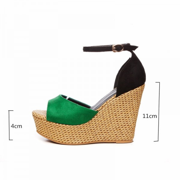 Summer Wedges Women Sandals Casual Open Toe High Heels Shoes Woman Fashion Sexy Platform Ankle Strap Lady Sandal Extra Image 1