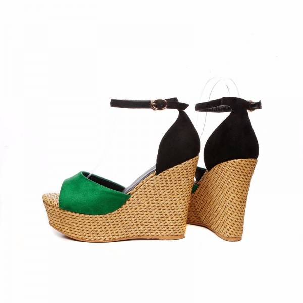Summer Wedges Women Sandals Casual Open Toe High Heels Shoes Woman Fashion Sexy Platform Ankle Strap Lady Sandal Extra Image 4