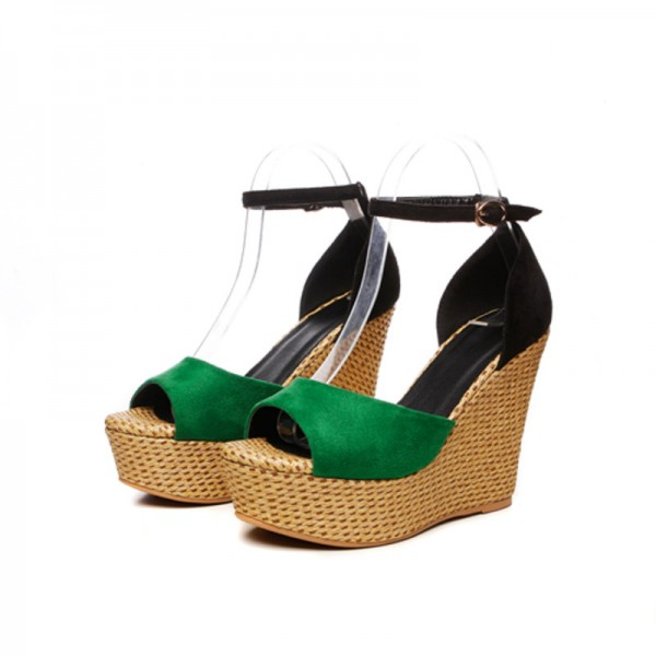 a235312486f Summer Wedges Women Sandals Casual Open Toe High Heels Shoes Woman Fashion Sexy  Platform Ankle Strap Lady Sandal