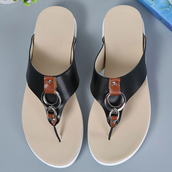Summer Women Flip Flops Slipper Genuine Leather Casual Lady Shoes Free Shipping Women Flats Slippers Plus Size 35 43 Extra Image 4