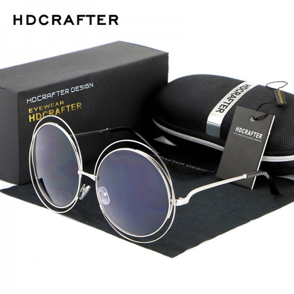Sunglasses For Round Faces High Quality Elegant Oversized Eye Glasses Designer UV400 Polarized Shades Extra Image 0