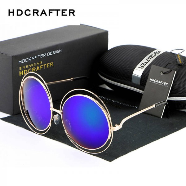 Sunglasses For Round Faces High Quality Elegant Oversized Eye Glasses Designer UV400 Polarized Shades Extra Image 3