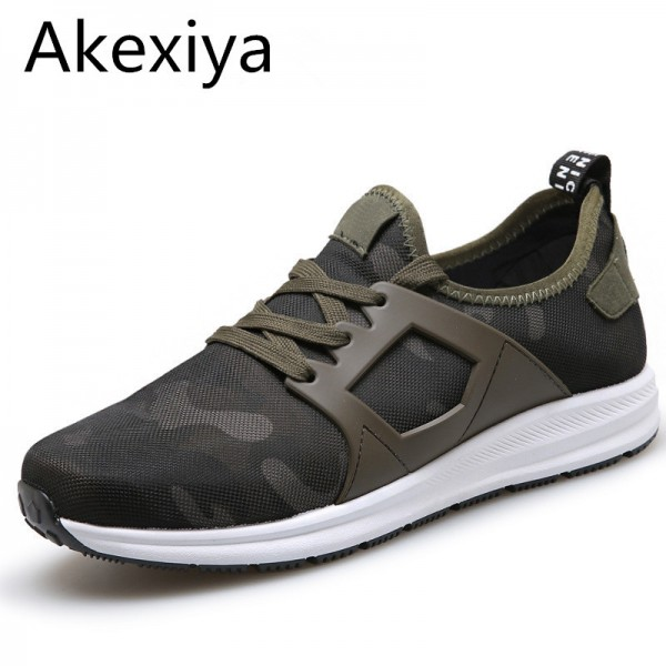 Super New 2018 Men Casual Shoes Canvas Camouflage Star Style Male Shoes Comfort Soft Walking Driving Shoes Extra Image 1