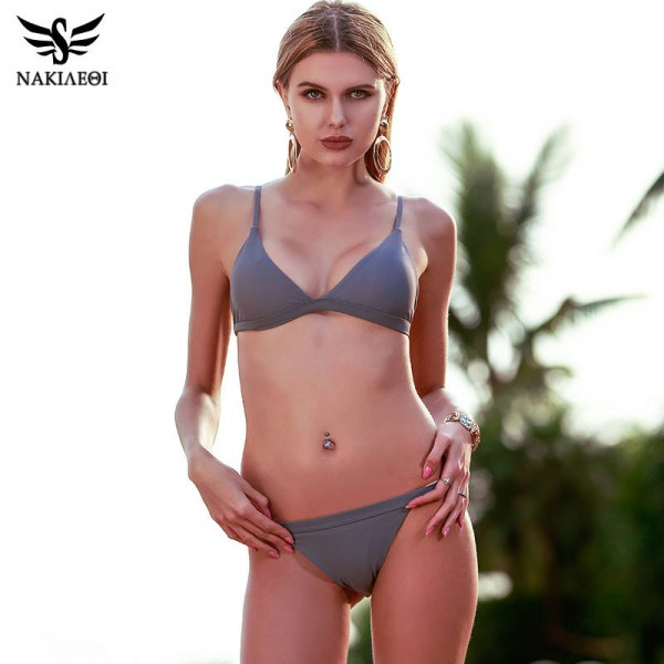 Super Sexy Two Piece Swimsuits For Women Halter Brazilian Push Up Bathing Suits Padded Top Quality Beachwear Extra Image 0