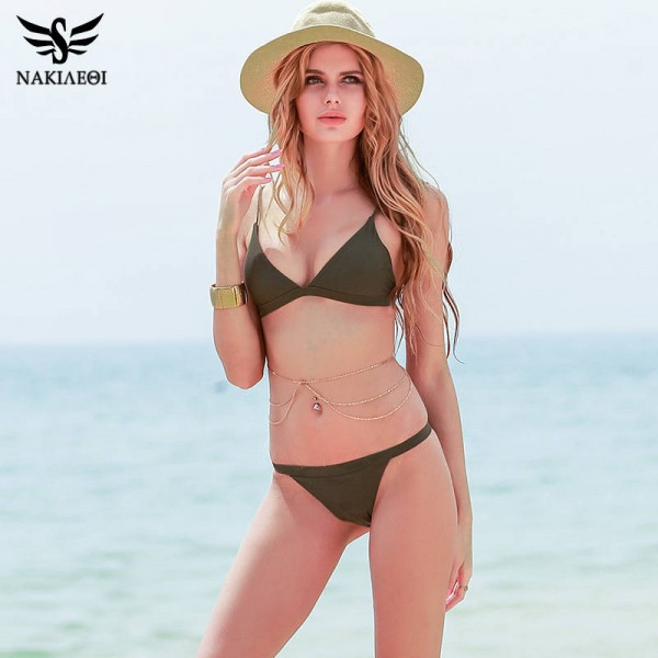 Super Sexy Two Piece Swimsuits For Women Halter Brazilian Push Up Bathing Suits Padded Top Quality Beachwear Extra Image 4