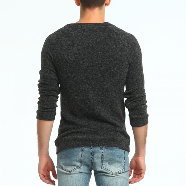 Sweater Pullover Men Male Brand Casual Slim Sweaters Men Button Splicing Solid Color Hedging Turtleneck Sweater Extra Image 5