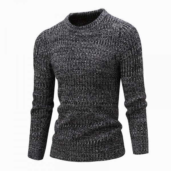 Sweater Pullover Men Male Brand Casual Solid Color Fashion Simple Sweaters Men Comfortable Hedging O Neck Men Sweater Extra Image 1