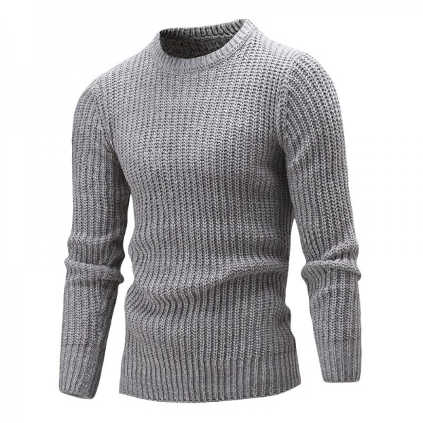 Sweater Pullover Men Male Brand Casual Solid Color Fashion Simple Sweaters Men Comfortable Hedging O Neck Men Sweater Extra Image 2