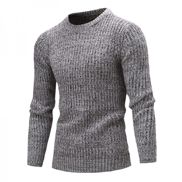 Sweater Pullover Men Male Brand Casual Solid Color Fashion Simple Sweaters Men Comfortable Hedging O Neck Men Sweater Extra Image 3