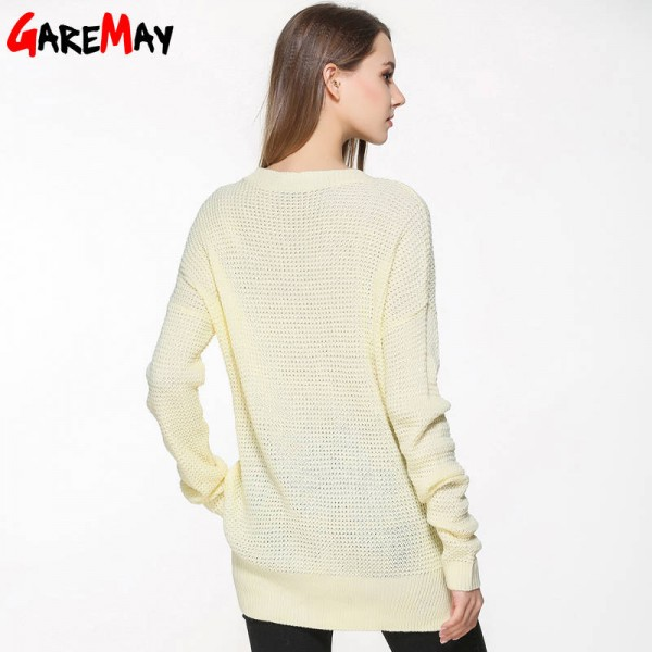 Sweater Shirt Women Jumper Spring Oversized Long Sleeve Knitted Loose Blouse For Women Extra Images 1