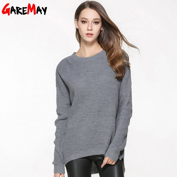 Sweater Shirt Women Jumper Spring Oversized Long Sleeve Knitted Loose Blouse For Women Extra Images 3
